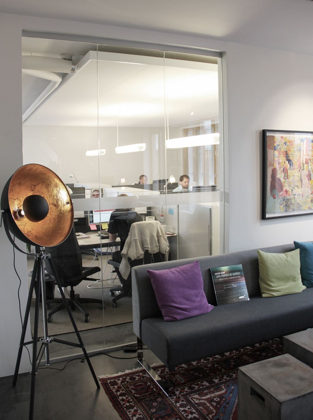 Akustiktak, Ecophon Master Ds, ovan kundsupport i kontor